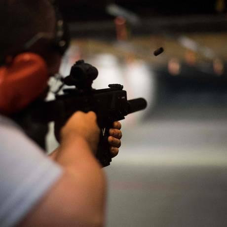 Galeria de tiro em Lynchburg, Virginia Foto: JIM WATSON / AFP