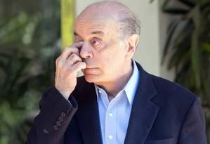 O senador José Serra (PSDB-SP) deixou o Ministério das Relações Exteriores em fevereiro Foto: Edilson Dantas / Agência O Globo (25/07/2017)
