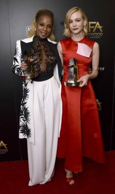 Mary J. Blige e Carey Mulligan Jordan Strauss / Jordan Strauss/Invision/AP