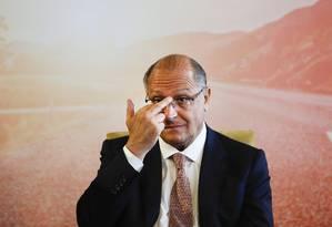 O governador de São Paulo, Geraldo Alckmin Foto: Edilson Dantas / Agencia O Globo 26/10/2017
