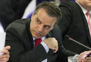 O ex-ministro do Turismo Henrique Alves durante reunião ministerial Foto: André Coelho / André Coelho/Agência O Globo/06-06-2016