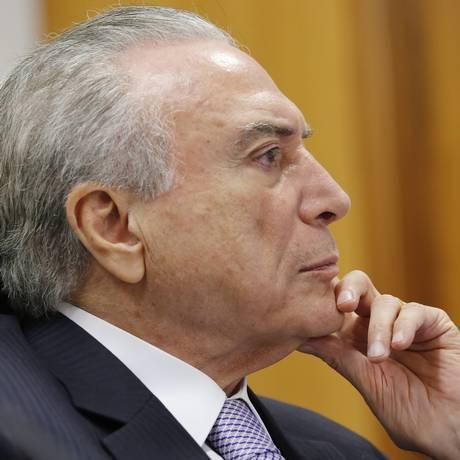 O presidente Michel Temer durante reunião com Ministro-Chefe da Casa Civil, Eliseu Padilha Foto: Divulgação