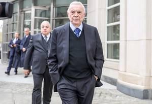 O ex-presidente da CBF José Maria Marin durante julgamento no Tribunal Federal do Brooklyn em New York Foto: Vanessa Carvalho/Brazil Photo Press / Agência O Globo