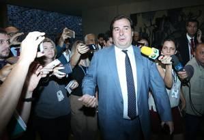 O Presidente da Câmara dos Deputados, Rodrigo Maia (DEM-RJ) Foto: Ailton de Freitas / Agência O Globo 06/11/2017
