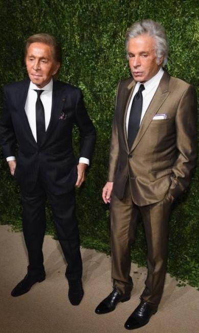 Valentino (à esquerda) também esteve no evento Dimitrios Kambouris / AFP