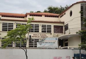 Tradicional. A Escola Argentina funciona desde 1935 no prédio do Boulevard Vinte e Oito de Setembro 125 Foto: Brenno Carvalho / Brenno Carvalho