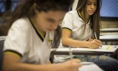 Alunos do Colégio de A a Z estudam para o Enem Foto: Guito Moreto