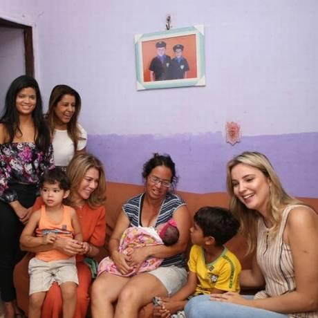 A primeira-dama Marcela Temer, madrinha do programa, acompanha visita do Criança Feliz em Águas Lindas Foto: Mauro Vieira / MDS / 5-10-17