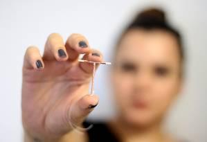 O DIU é utilizado como método anticoncepcional Foto: Rodrigo Nunes / Ministério da Saúde
