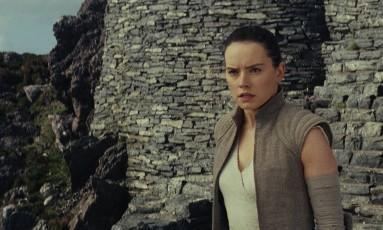 Daisy Ridley em cena de 'Star Wars: Os últimos Jedi' Foto: Divulgação