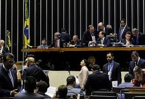 Câmara aprova texto principal de projeto que acaba com progressão da pena para quem matar policiais Foto: LUIS MACEDO / Agência Câmara