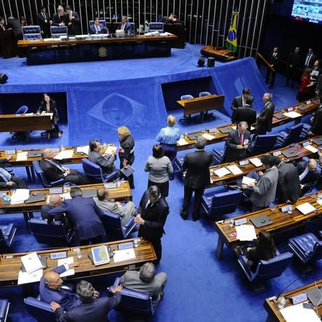 Plenário do Senado durante sessão deliberativa ordinária Foto: Marcos Oliveira/Agência Senado