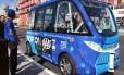 O ônibus autônomo tem capacidade para 15 passageiros Foto: Regina Garcia Cano / AP