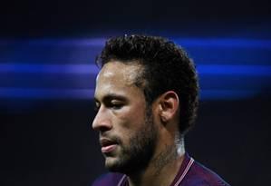 Neymar não se entende com o técnico no PSG Foto: CHRISTOPHE SIMON / AFP