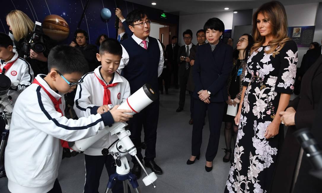 ...e astronomia com as crianças GREG BAKER / AFP