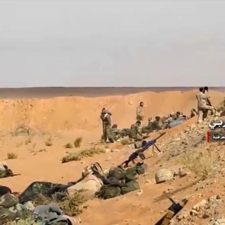 Forças sírias e aliados tomaram Abu Kamal Foto: Syrian Central Military Media / AP