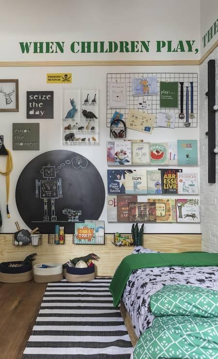 O The Little Door Studio ficou responsável pelo quarto do menino Quarto do menino - The Little Door Studio Foto: Divulgação