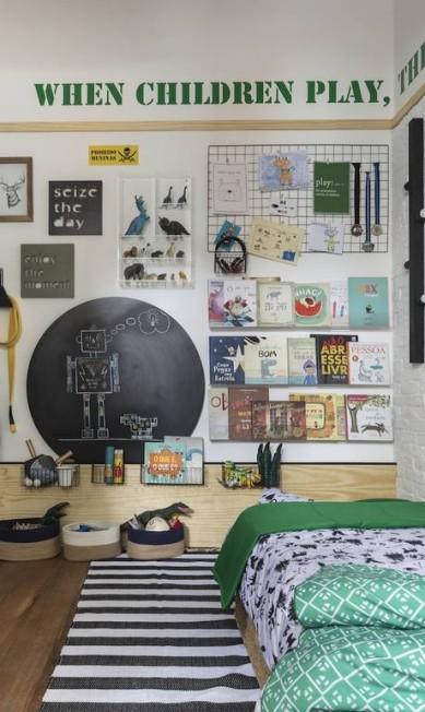 O The Little Door Studio ficou responsável pelo quarto do menino Quarto do menino - The Little Door Studio Divulgação