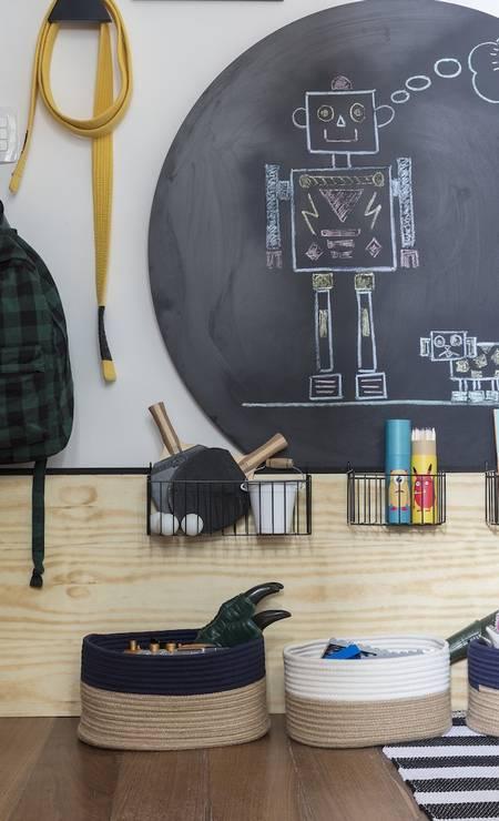 Detalhe do quarto do menino Foto: Divulgação
