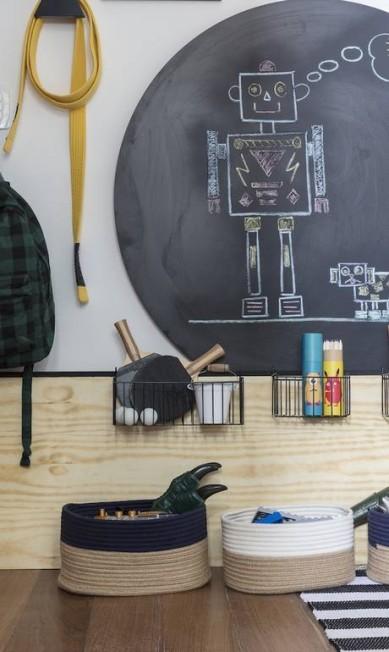 Detalhe do quarto do menino Divulgação