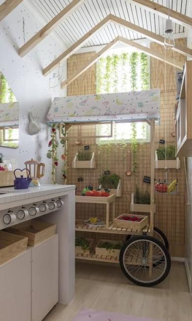 Hana Lerner Arquitetura e ateliê Nina Moraes Design fizeram a Cozinha Kids Divulgação