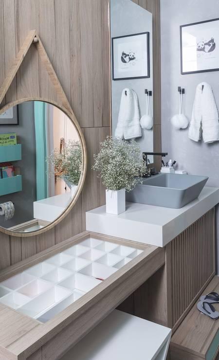 O banheiro dos meninos de Carmen Zaccaro, da Cantinho de Dormir Foto: Divulgação