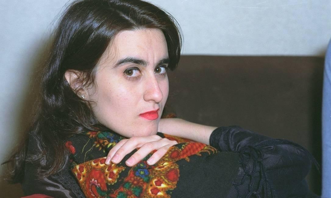 A atriz Márcia Cabrita em um clique de 1991 Paula Johas
