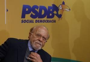 Ex-governador de São Paulo, Alberto Goldman assumiu PSDB após o presidente licenciado, Aécio Neves, destituir o interino, Tasso Jereissati Foto: Michel Filho / Agência O Globo