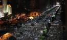 Manifestação contra o aumento da tarifa de ônibus reuniu milhares de pessoas no Centro do Rio em 2013 Foto: Pablo Jacob - 20/06/2013 / Agência O Globo