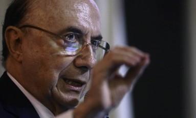 Ministro da Fazenda, Henrique Meirelles. Foto de Jorge William /Agência O Globo