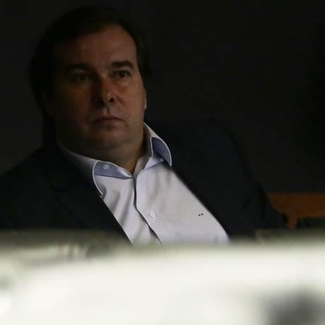 Rodrigo Maia, presidente da Câmara, no plenário Foto: Jorge William/Agência O Globo