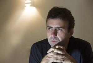 31/10/2016: Marcelo Freixo, em entrevista ao GLOBO Foto: Antonio Scorza / Agência O Globo