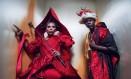 No Calendário Pirelli 2018, personalidades negras representaram o clássico infantil 'Alice no país das maravilhas'. Na foto, a drag queen RuPaul e o ator Djimon Hounsou Foto: Tim Walker