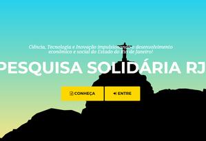 """Plataforma virtual """"Pesquisa Solidária"""" Foto: Reprodução"""