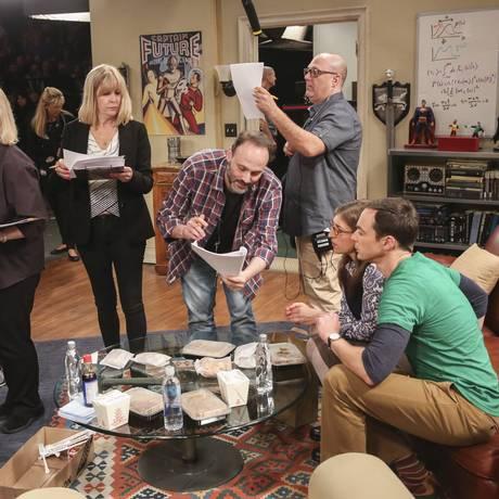 Gravação do seriado The Big Bang Theory, nos estúdios da Warner, em Los Angeles Foto: Divulgação Estúdios Warner