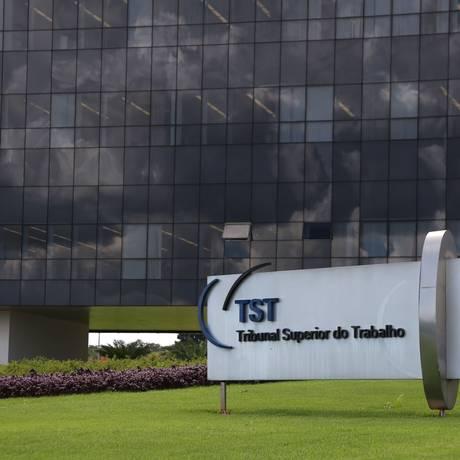 Tribunal Superior do Trabalho (TST), em Brasília Foto: Michel Filho / Michel Filho/Agência O Globo/23-02-2016