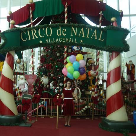 O VillageMall mistura circo e Natal em sua decoração e nas atividades oferecidas ao longo de toda a semana para crianças e adultos Foto: Lais Silva / Divulgação