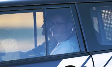 Rodrigo Rocha Loures chega na Polícia Federal (PF) após fazer exame de corpo de delito no IML Foto: Jorge William/Agência O Globo/14-06-2017