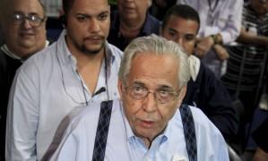 O atual presidente do Vasco, Eurico Miranda, durante a eleição, terça-feira Foto: Uanderson Fernandes / Agência O Globo
