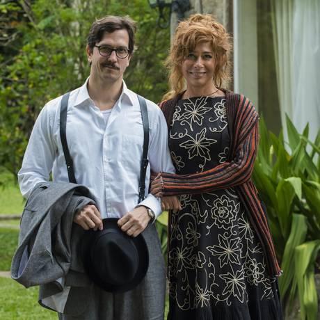 Zózimo (Vladimir Brichta) e Vilma (Andrea Beltrão) Foto: Divulgação/TV Globo/Cesar Alves