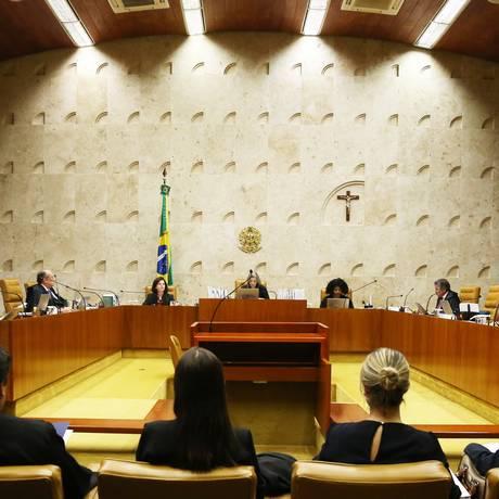 Sessão do Supremo Tribunal Federal (STF) Foto: Givaldo Barbosa / Agência O Globo