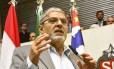 O deputado estadual Pedro Tobias, durante audiência na Assembleia Legislativa