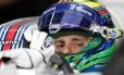 Felipe Massa com a bandeira do Brasil no capacete: país ficará sem pilotos na Fórmula-1 em 2018