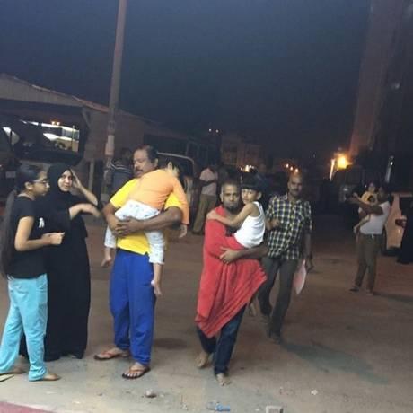 Terremoto de magnitude 7,3 foi registrado na fronteira do Iraque com o Irã Foto: Facebook (Ayman Mat)/Reprodução