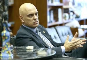 Alexandre de Moraes é favorável à revisão do foro provilegiado Foto: Jorge William / Agência O Globo