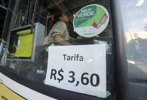 Tarifa dos ônibus municipais do Rio terá que reduzir vinte centavos, passando de R$ 3,60 para R$ 3,40 Foto: Gabriel de Paiva / Agência O Globo