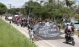 Após manifestação, grupo de motociclistas volta para a comunidade do Salgueiro