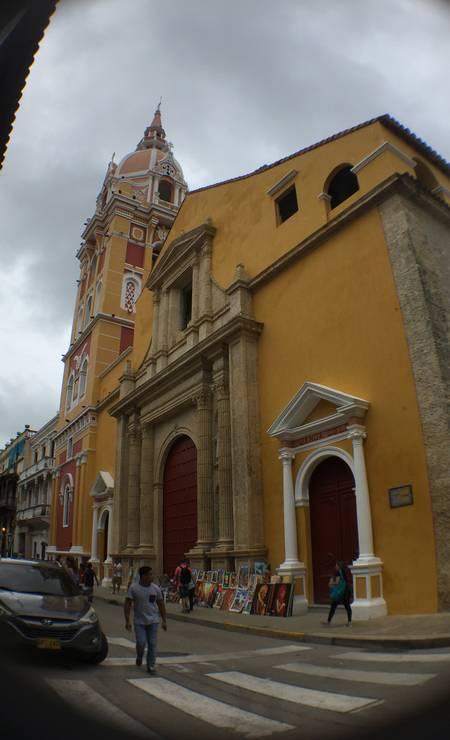 Construções de Cartagena são marcadas por arquitetura espanhola e muitas cores Foto: Breno Salvador/O GLOBO