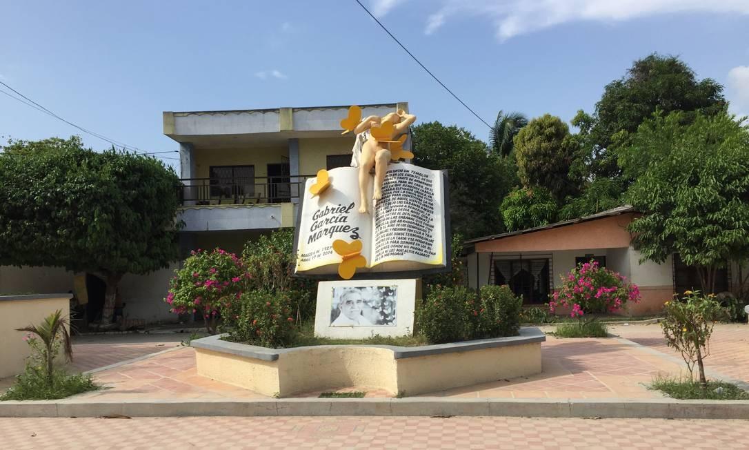 Aracataca é cheia de homenagens a Gabo Foto: Breno Salvador/O GLOBO