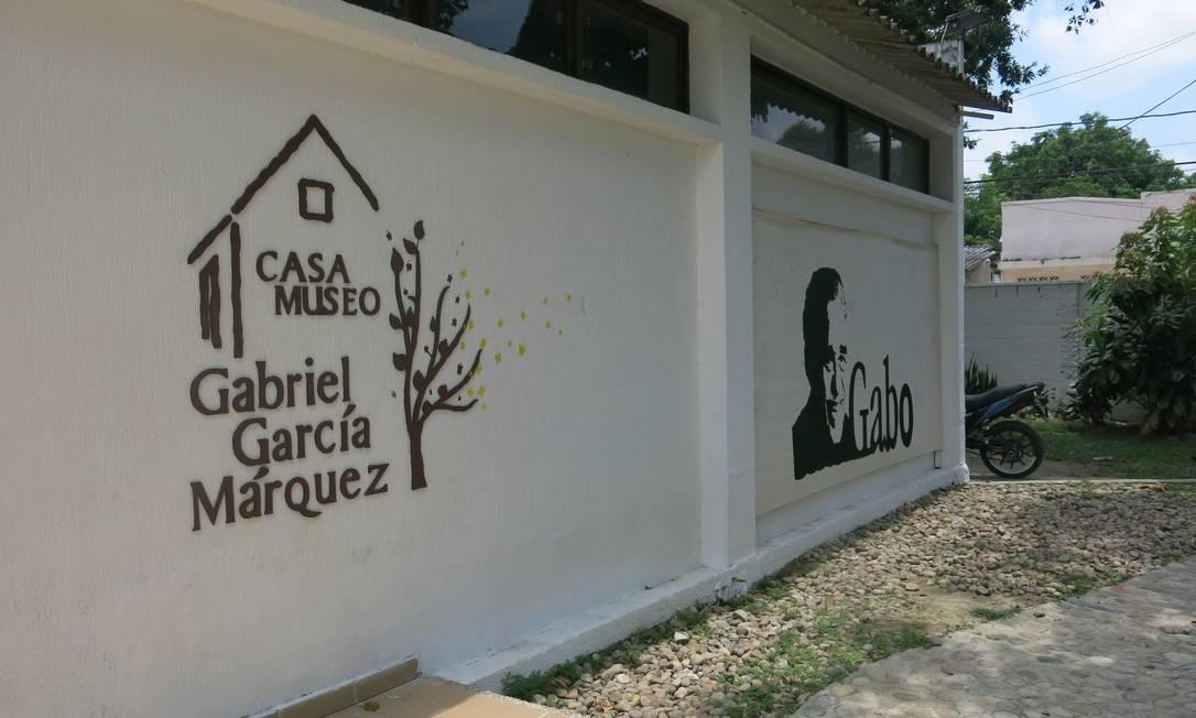 A Casa Museu García Márquez, reconstrução da casa de nascença do escritor Foto: Breno Salvador/O GLOBO